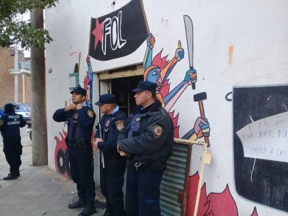 Operativo represivo en Córdoba